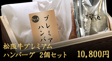 松阪牛プレミアムハンバーグ2個セット